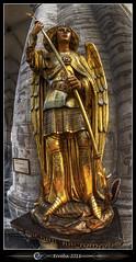 Arch Angel Michael - Saint Michiels Cathedral - Brussels (Erroba) Tags: saint statue canon gold golden michael catholic belgium belgique religion belgi sigma fisheye erlend archangel hdr 10mm 3xp 60d erroba robaye