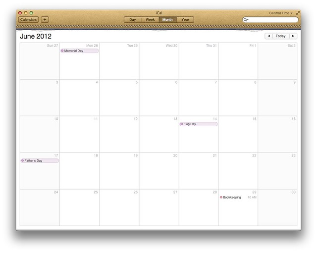 iCal in Lion