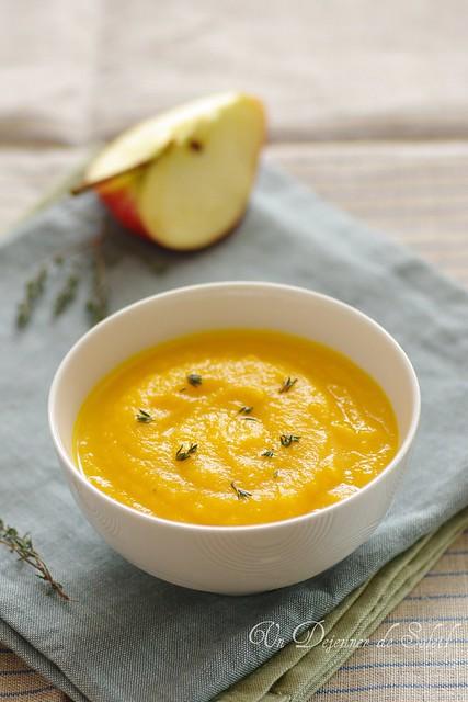 Soupe de pommes, carottes et orange