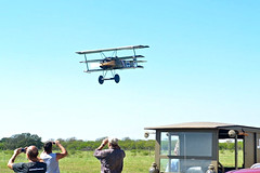 You Bet She Can Fly ! (thegreatlandoni) Tags: usa airplane flying inflight texas wwi aeroplane replica german worldwarone ww1 dri authentic kingsbury fokker pfm triplane thegreatwar testflight flightworthy pioneerflightmuseum