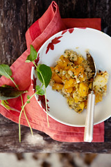 squash, apple and quinoa crumble (cannelle-vanille) Tags: autumn quinoa apples goatcheese glutenfree redkurisquash savorycrumble applewepickedinvermont