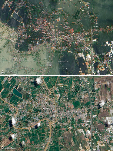 Floods Swamp Historic City in Thailand