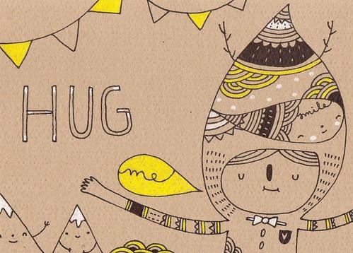 HUGGGGSSSSS by Pinkrain Indie Design