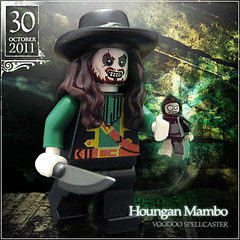 October 30 - Houngan Mambo, Voodoo Spellcaster (Morgan190) Tags: halloween scary october advent calendar lego magic spell creepy pirate minifig minifigs custom ragdoll voodoo curse magician m19 minifigure potc 2011 barbossa brickarms morgan19 morgan190 jengan
