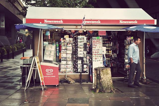 London. Kiosk