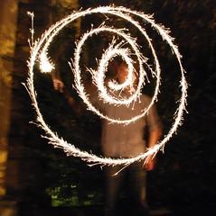 Diwali sparklers, I draw a spiral (adambangor) Tags: party england festival fireworks lakshmi sparklers lighttrails diwali festivaloflights newcastleupontyne tynewear tyneandwear fenham goddessofwealth