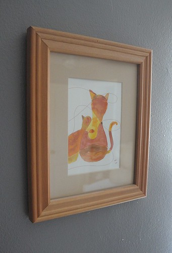 cat watercolor
