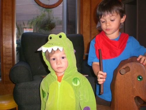 Merlin & Kilgarrah Halloween
