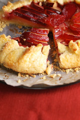 plum galette (Ms_evinrude) Tags: red summer food fruit recipe dessert sweet plum homemade pastry blogged plates easy tart baked galette stonefruit foodstyling