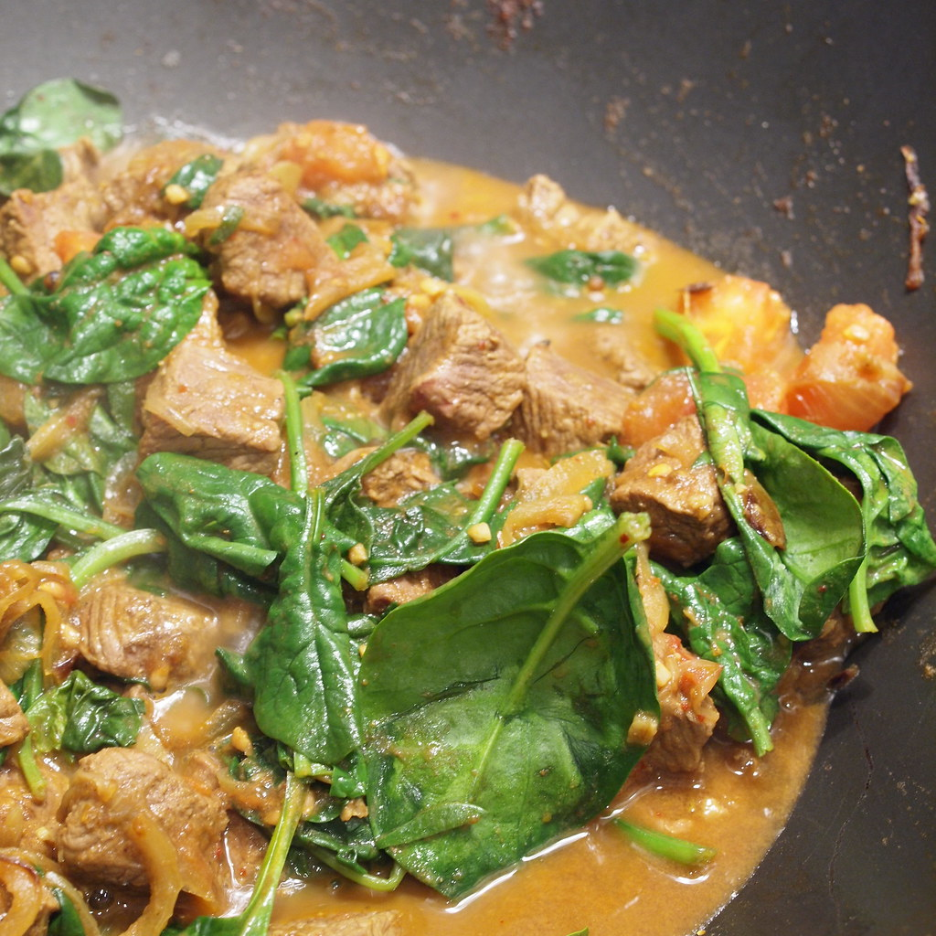 Lamb and spinach curry - it tastes more exotic than it sounds