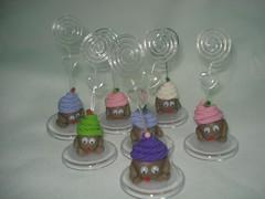 Cup Cake (Kakell Artesanato) Tags: biscuit bonecos portarecados
