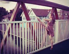 Ballet Dancer at Sunset (Claude Schneider) Tags: cambridge sunset ballet water river model ballerina photoshoot cam dancer barefoot arabesque cambridgeballerinaproject puntballetcambridgeballerinaprojectmodelphotoshoot camballet