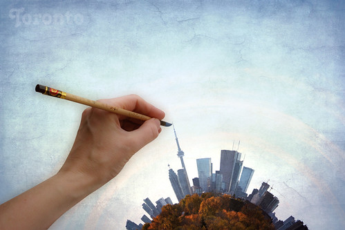 Painting Toronto Planet On An Autumn Day