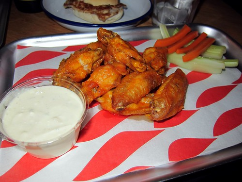Buffalo Wings with Blue Cheese Sauce