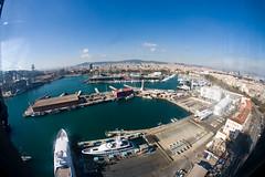 Harbour (sharpneil) Tags: barcelona tourism port spain harbour neil aerial sharp monuments tramway vell sharpographycouk