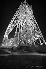 Lift Bridge 2 B&W (Lakeshore Images) Tags: bridge night lift pentax sigma aerial 20mm 1020mm 1020 duluth kx 10mm 10mm20mm