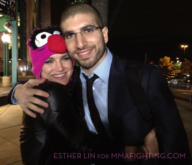 Gina Carano and Ariel Helwani after UFC ON FOX