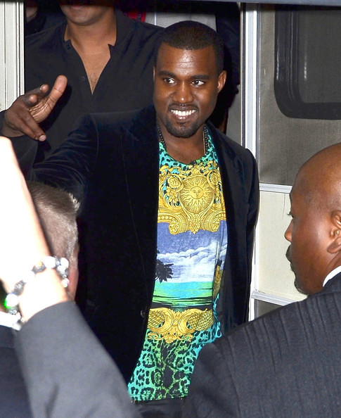 Kanye-West-Versace-for-HM-turqoise-t-shirt-leopard-print