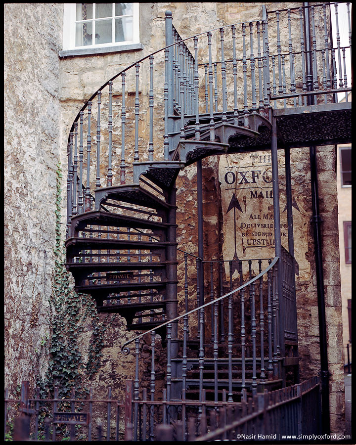 Rusty spiral staircase