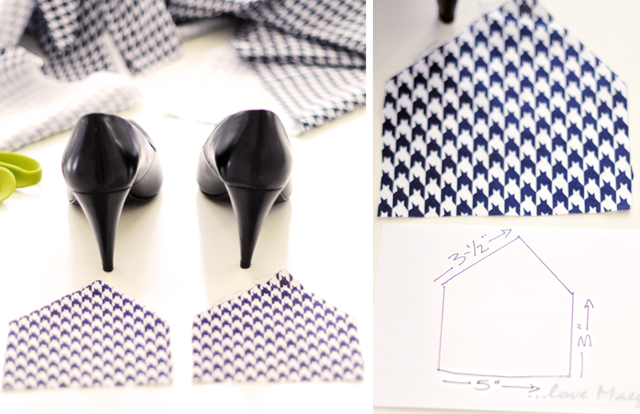 Houndstooth Shoes DIY - 1-1