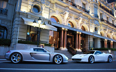 Monaco. (Richard T Smith) Tags: london square t italia smith ferrari casino monaco richard porsche gt motorshow carrera supercars 458 2011