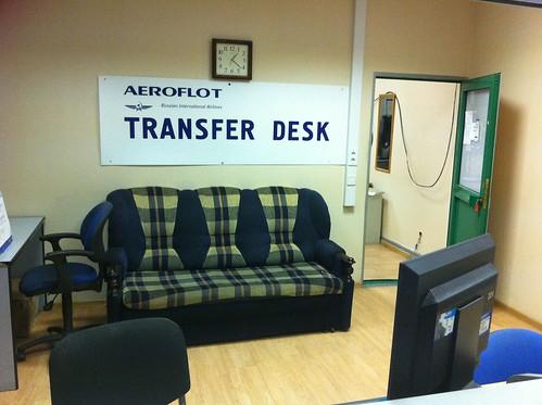 Aeroflot Transfer Desk at Moscow Sheremetyevo airport