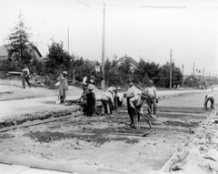 Laying tracks for street car