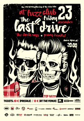 Last Drive (Design Insane) Tags: music rock club last dark poster skulls drive design insane punk graphic rags garage flames antinazi penny rockabilly fuzz dreadful indyvisuals