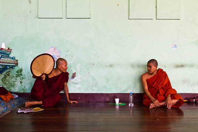 Monks conversing