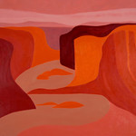 "<b>Canyon De Chelly, Junction Rim. No. III</b><br/> Hampton (LC '80) (Oil on canvas, 2010-2011)<a href=""//farm7.static.flickr.com/6218/6351038678_63e024c3d6_o.jpg"" title=""High res"">∝</a>"