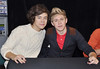 Harry Styles and Niall Horan One Direction attend a signing for their new album 'Up All night' at Tesco Extra Maynooth in Kildare Kildare, Ireland