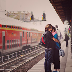 The love train. (www.juliadavilalampe.com) Tags: berlin love train deutschland couple verano liebe savignyplatz