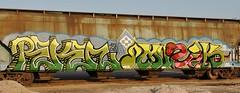 Reken, Muzik (nunya...nunyabusiness) Tags: art train graffiti paint snake character tracks note spraypaint graff muzik hopper musicnote reken