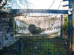 No students - part 3 (davekpcv) Tags: students sign warning no banner bad badsign noentry results nostudents