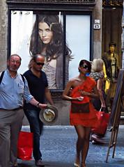 mr. t & the italians (venetia 27) Tags: italy shopping poster lucca englishman italians