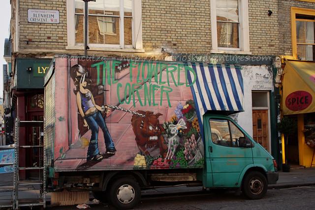 camionicino mercatino portobello londra