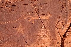 Star Fox Petroglyph (darthjenni) Tags: trip travel vacation southwest nature stone landscape outdoors utah desert native indian hike trail american moab geology petroglyph rockart formations pictograph geological olympuszuikodigitaled1442mmf3556