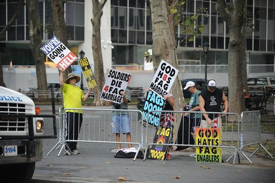 Westboro Baptist Church street picket in NYC