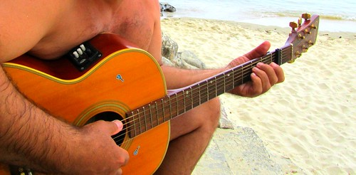 Guitarring the Playa by JoseAngelGarciaLanda
