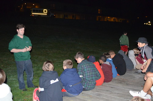 Explaining Flashlight Tag to Campers