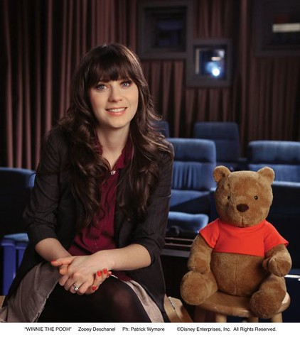 Zooey Deschane with Pooh