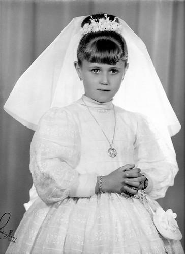 Retrato de la 1ª Comunion de Ruth Magallon