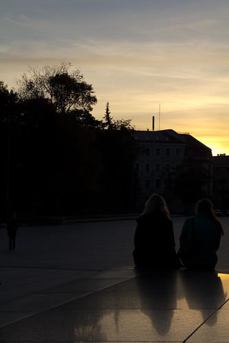 Vilnius, ammirando il tramonto!