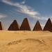 Row of Nubian/Kushite pyramids near Jebel Barkal, Sudan