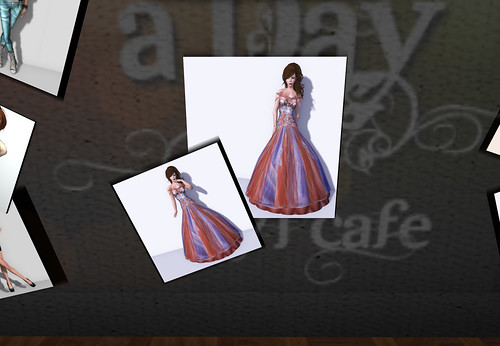 Purple & Persimmon Silk Gown  by Cherokeeh Asteria