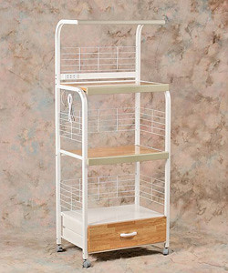 Four Shelves Microwave Stand with one drawer and electric wire &