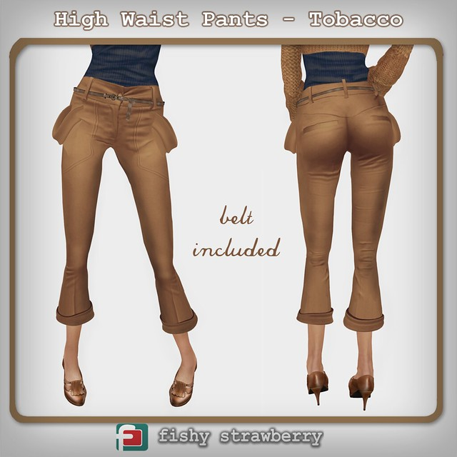 high waist pants tobacco
