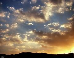 Sky Life (Mari Rasti) Tags: sunset sky cloud sun sunlight mountain color alone sad power iran god wave line shiraz cry takenwithlove sonyh50 mindigtopponalwaysontop lovelyflickr marirasti