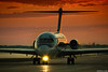 Red-Eye Arrival (~Clubber~) Tags: morning sun canada sunrise airplane dawn early airport taxi aviation passengers redeye dc9 mcdonnelldouglas ariline usajet