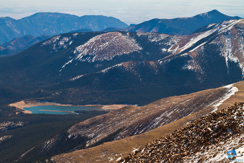 Crystal Reservoir from the summit